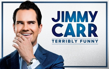 JIMMY CARR TERRIBLY FUNNY TOUR IMAGE LANDSCAPE AND TITLE